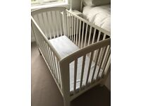 Cot - Solid wood. Colour white, from John Lewis