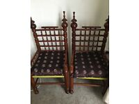 Real wooden traditional chairs