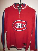 MONTREAL CANADIANS HABS SWEATER SIZE LARGE SLIM FITTED