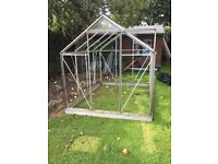 Glass green house 2 available one with glass panels
