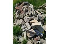 Free bricks rubble