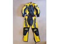 Spyke 2 piece leather motorcycle suit