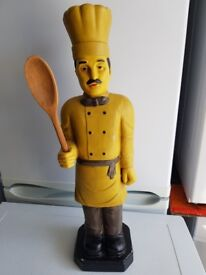 Porcelain Chef Advertising Chef.