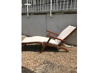 Set of 4 Teak Loungers for the Garden with cushions