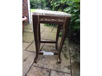 Solid Sheesham carved plant stand