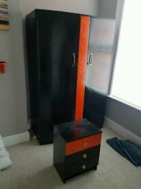 Wardrobe & side table (free delivery)