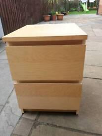 Ikea 2 drawer bedside unit
