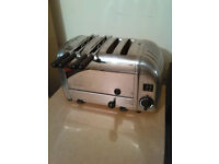 Dualit toaster 4 slots 2 switches & timer