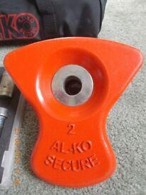 ALKO SECURE WHEEL LOCK.