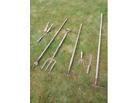 Vintage garden tools 7 items, 1930's 1940's