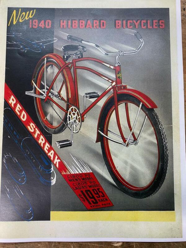 classic 1940 HIBBARD HSB DP Harris Snyder Rollfast Bicycle CATALOG copy OVB