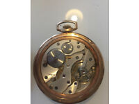 A 9 ct gold cased Sheffield Goldsmiths Co. Ltd, pocket watch with engraved AO