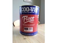 Floor Paint - New 5L Tin of Quality Coo-var Brand - Grey