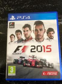 F1 2015 PS4 game