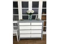 Oak chest of drawers Free Delivery Ldn Shabby Chic sideboard tv stand