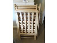 Natural solid wood compact cot and mattress