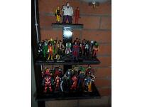 appox 47 eaglemoss marvel figurines + customs exdisplay half term sale only