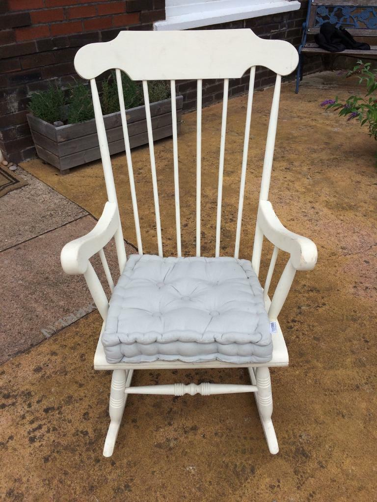 Pine Rocking Chair And Cushion Shabby Chic Project In Exeter