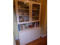 Ikea white sideboard and glass fronted dresser