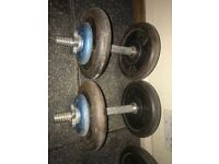Complete weight lifting set cast Iron plates, dumbbells, bench, bars, mats etc. OVER 200kg