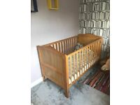 Two Nested Sorrento Cot Beds with mattresses- As New. Worth £500+ new! Perfect for twins.