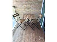 Set of outdoor table and chairs