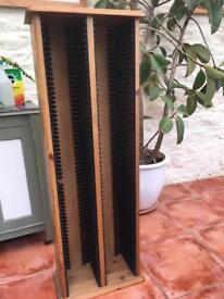 Pine CD rack (holds 100 cds)