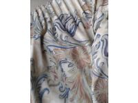 1 Pair of Curtains with tie backs 90inch wide x 72inch drop