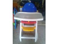 Colourful Plastic High Chair