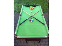 Child's snooker/pool table for sale