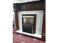 Mahogany Fireplace