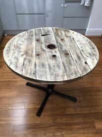 Cable reel table up cycled