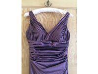 Mauve Bridesmaid Prom Dress Size 8-10, Shoes Size 5 and Men's Cravat