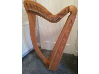 Beautiful 29 string lever Harp