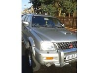 Low mileage Mitsubishi L200 Warrior 4x4.May P/X.