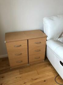 2 x 3 Drawer Bedside Cabinet