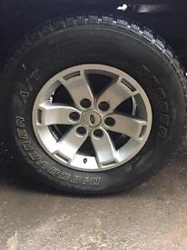"Set of 4 ford ranger 16"" alloys with tyres"