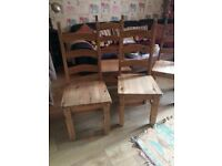 Solid wood, big dining chairs