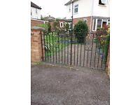 2 x Wrought Iron Garden Gates