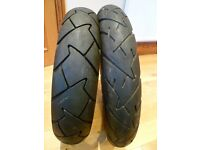 Continental Trail Attack 2 Motorcycle Tyres Triumph Bonneville/scrambler. Almost NEW