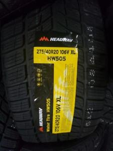 4 winter tires headway 275/40r20 New