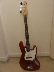 Bass guitar with amp