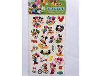 Kids Temporary Tattoos - Frozen, Hello Kitty, Barbie, Thomas the Tank Engine, Mickey & Minnie Mouse