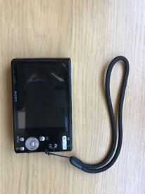 Sony Cyber shot Pocket Camera - includes case, wrist strap, battery charger and UK adapter