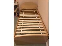 Single bed like new very sturdy, Ikea slats