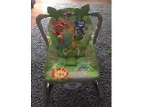 Vtech glow & giggles playmat & fisher price rainforest rocker / chair