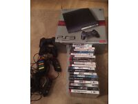 250GB PS3 + 2 Controllers + 19 Games