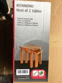 Nest of tables brand new boxed