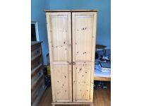 Wardrobe- wood finish, good condition