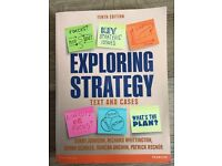 Exploring Strategy Text and Cases text book